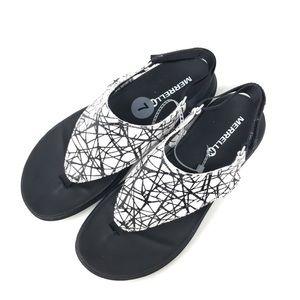 Merrell footwear Black Sunvue sandals NEW size 7
